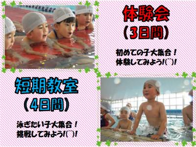夏の体験会(3日間)&短期教室(4日間)開催!